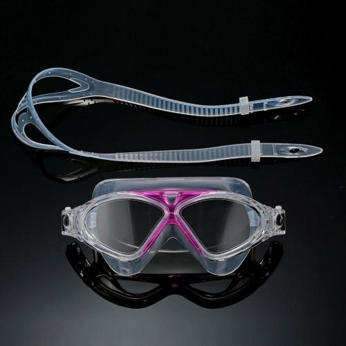 Регулируемые унисекс взрослых не туманообразования анти УФ большие плавательные очки плавать очки