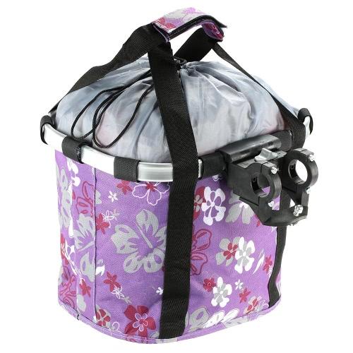 Bicycle Bike Detachable Cycle Front Canvas Basket Carrier Bag Pet Carrier Aluminum Alloy Frame Pet Carrier