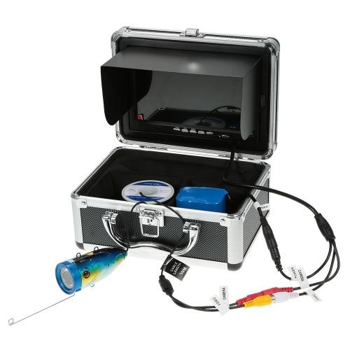 7 '' a colori digitale Fish Finder LCD HD 1000TVL 120 gradi grandangolare 12LED Pesca Fotocamera subacquea Fishfinder Pesca Fotocamera Apparecchiatura di pesca 15M / 30M cavo UE / USA Plug