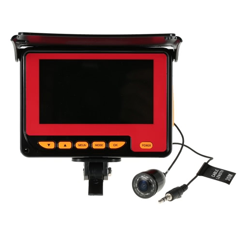 4.3 '' LCD Digital Color 1000TVL Buscador de los pescados de la cámara HD de pesca de vídeo subacuático del monitor de la cámara DVR de la pesca de la UE 20 metros de cable / enchufe de EE.UU.