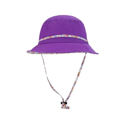 VEPEAL Mujeres Niñas plegable Beach casquillo de la protección UV Sun del verano del sombrero del sombrero del cubo
