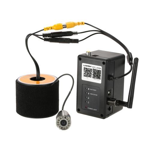 Lixada 2.4G sans fil Wi-Fi Pêche caméra sous-marine Pêche Caméra d'inspection Échosondeur 200 Portable sans fil Plage de fonctionnement IOS pour Android