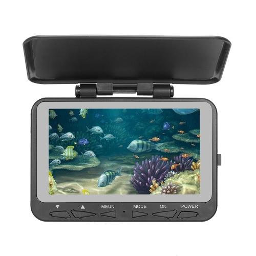 Lixada 1000TVL 4,3-дюймовый ЖК-дисплей с камерой для наблюдения за рыбой Камера 140 ° Широкоугольный водонепроницаемый комплект для подводной рыбалки для подводной рыбалки Комплект для рыбной ловли 15-метровый кабель для лодки