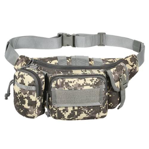 Lixada Outdoor Portable Waist Fanny Pack viaggio sacchetto di vita borsa a tracolla per il ciclismo Camping Escursioni a caccia Pesca