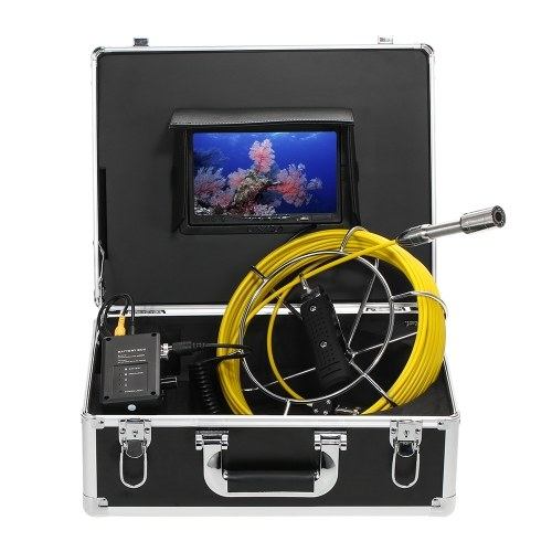 Lixada 20M Drain Pipe Sewer Inspection Video Camera 8GB SDcard Included