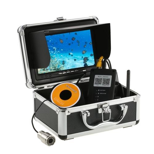 """1000TVL WiFi cámara de pesca submarina buscador de pescado 5 Mobile App de visualización de iOS para Android 7 """"monitor de color 30 m de cable"""