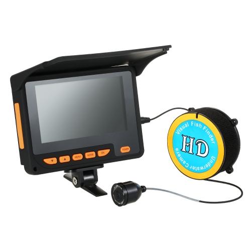 """Lixada 20 Mt 1000TVL Fisch Finder Unterwasser Eisfischen Kamera 4,3 """"LCD Monitor 8 Infrarot IR LED Nachtsicht Kamera 140 ° Weitwinkel"""