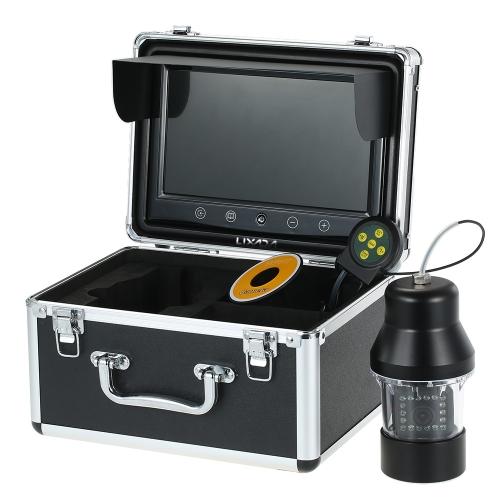 Lixada Professional Underwater Fishing Camera Buscador de peixe com botões de toque 9 polegadas grande tela colorida impermeável 18 LEDs 360 graus de câmera rotativa