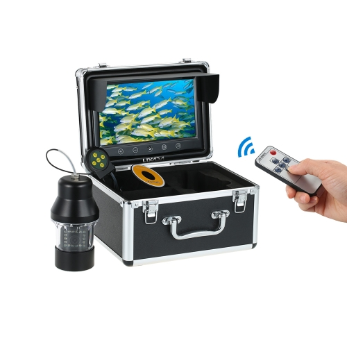 Lixada Macchina fotografica pesca subacquea professionale Fish Finder con pulsanti a sfioramento Schermo a colori grande 9 pollici Impermeabile 18 LED fotocamera girevole a 360 gradi