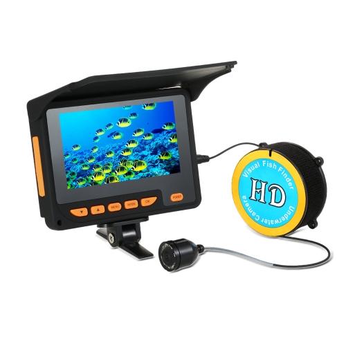 Lixada 20M 1000TVL Fisch Finder Unterwasser Eisfischen Videokamera 4,3