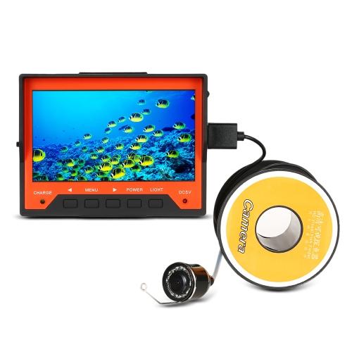 """Lixada 15M 1000TVL 4.3 """"Fish Finder Fish Pesca subacquea con cinturino da polso 8 LED infrarossi Telecamera per visione notturna 140 gradi grandangolare"""