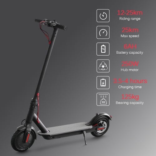 E4 8.5 Inch Electric Vacuum Tyre Scooter