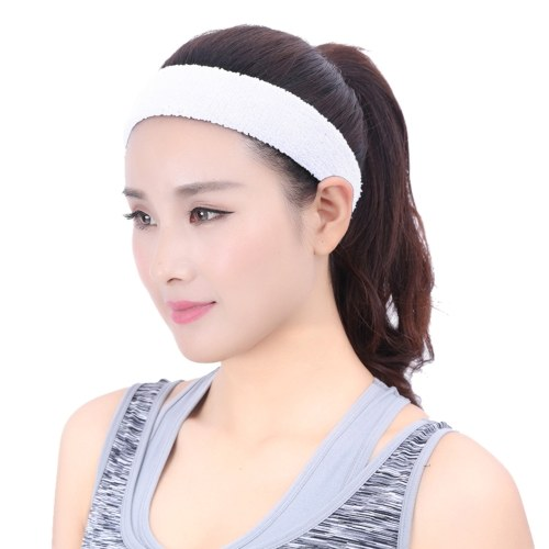 Sports Sweatband Men / Women Elastic Headband Anti-slip Fitness Hairband Athletic Cotton Terry Cloth