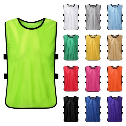 6 PCS Adults Soccer Pinnies Quick Drying Football Jerseys Sports Scrimmage Practice Sports Vest Team Training Bibs