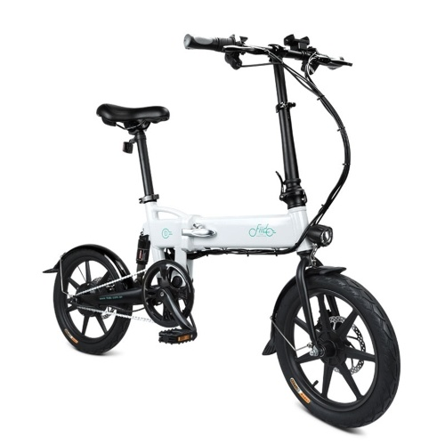 FIIDO D2 16 Inch Folding Power Assist Electric Bicycle(White)