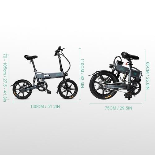 FIIDO D2 16 Inch Folding Power Assist Eletric Bicycle Moped E-Bike 250W Brushless Motor 36V 7.8AH