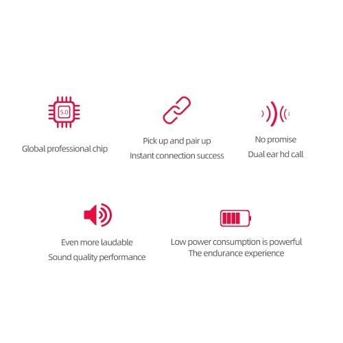 A6S Mini TWS Twins True-Wireless In-Ear BT5.0 Earphones Sports Stereo Earbuds Headset