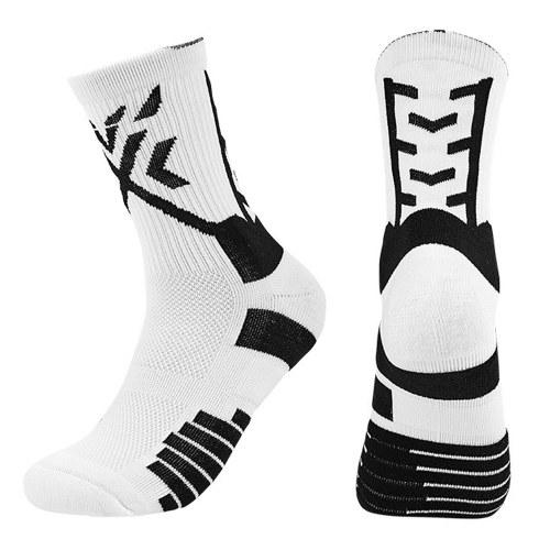 Men's Sports Socks Anti Slip Socks Moisture Wicking Compression Socks Athletic Socks for Basketball Baseball Football