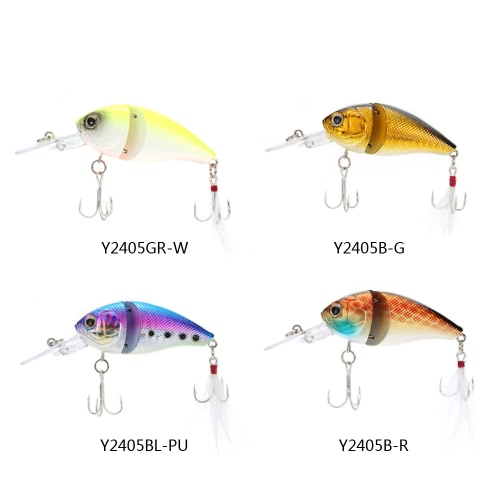 8.5cm 15g 2-Jointed Fishing Hard Lure Chubby Fatty Crank Bait Tackle Y2405GR-W