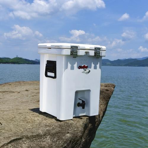 20L Bere contenitore portatile Rotomolded del dispositivo di raffreddamento di sicurezza per pesca di campeggio