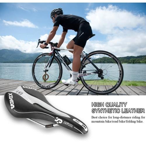 PVC pelle artificiale della sella della bicicletta traspirante Mountain sella della bici della bicicletta della strada cuscino ammortizzatore con Bilancia