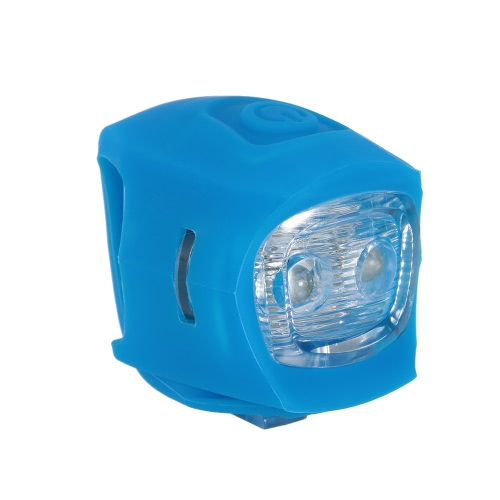 Silicone doppio della bicicletta LED Water Resistant bicicletta faro lampada della luce d'avvertimento della bici di montagna Strada della testa della bici della luce della lampada