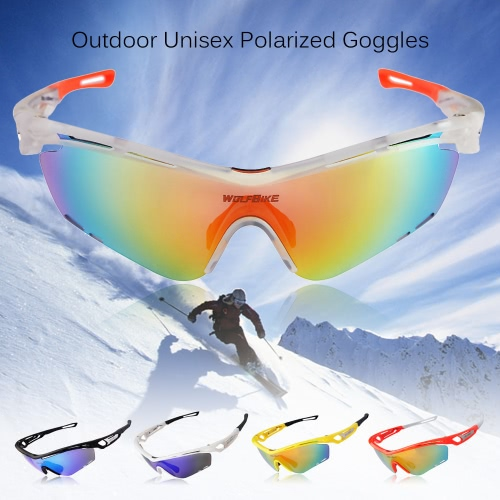 Wolfbike Unisex Polarized Cycling Glasses Outdoor Sports Bicycle Goggles Interchangeable Lenses
