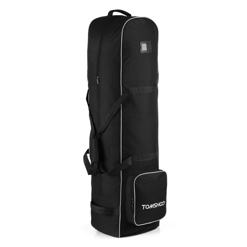 TOMSHOO Smooth Rolling Golf Travel Bag Cover Case Carrier with Wheels