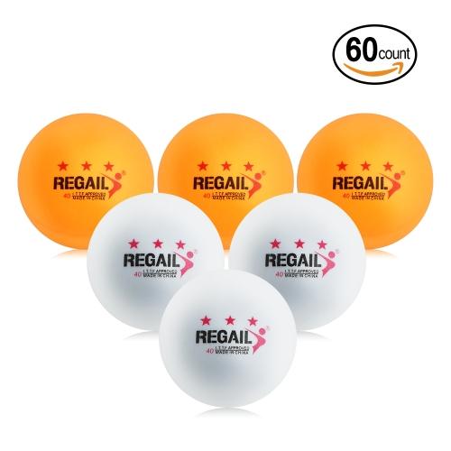 60Pcs 3 Sterne Ping Pong Bälle Praxis Training Tischtennisbälle