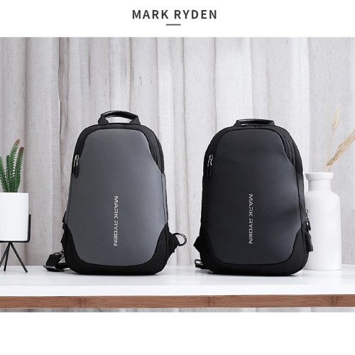 TOMTOP / MARK RYDEN Portable Fashionable Casual Anti-Thief Multifunctional Waterproof USB Charging Men Single-Shoulder Bag