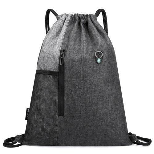Gym Sack with Earphones Jack Drawstring Backpack