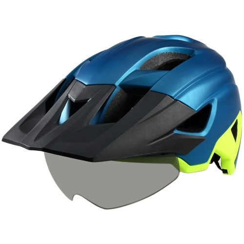 Mountain Bike Helmet with Detachable Visor Detachable Goggles Ultralight Adjustable MTB Cycling Bicycle Helmet Men Women Sports Outdoor Safety Helmet