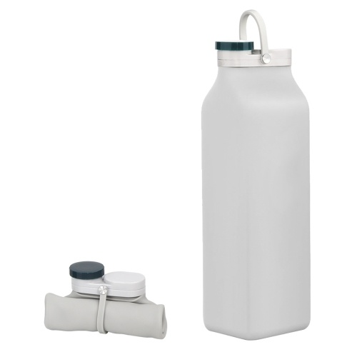Curled-up Silica Gel Milk Bottle 600ml Portable Travel Water Cup Outdoor Sports Kettle Collapsible Silicone Water Bottle