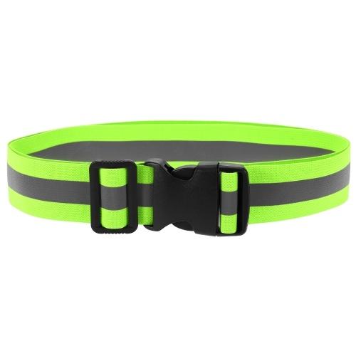 Эластичный светоотражающий пояс для бега Эластичный пояс для ночной безопасности с высокой видимостью для занятий спортом на открытом воздухе Бег Велоспорт Бег Ходьба