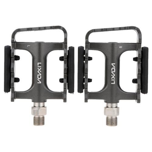 2Pcs Lixada MTB Folding Bicycle Aluminum DU Bearing Platform Pedals 9/16