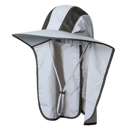 Wide Brim Sun Hat with Neck Flap Men Women UV Protection Sun Hat for Camping Hiking Fishing