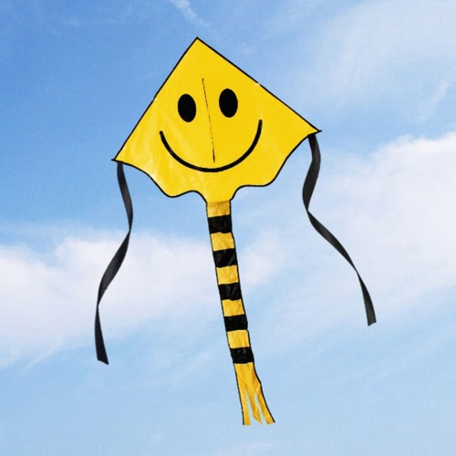 60 * 80cm Smiley Kite volto sorridente Kite per i bambini con la linea della maniglia Outdoor Sports