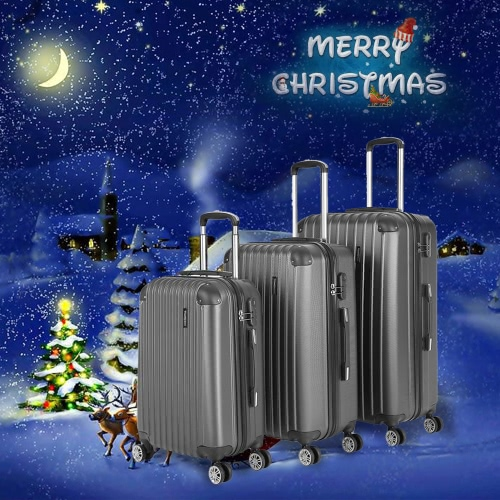 TOMSHOO Moda 3PCS set di borse su Carry-on Valigia ABS hard Shell Trolley 20