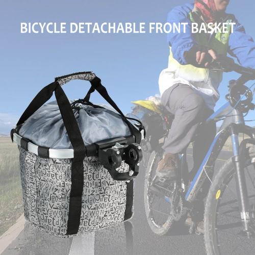 Telaio bici della bicicletta staccabile ciclo anteriore della tela carrello Carrier Bag Pet Carrier lega di alluminio