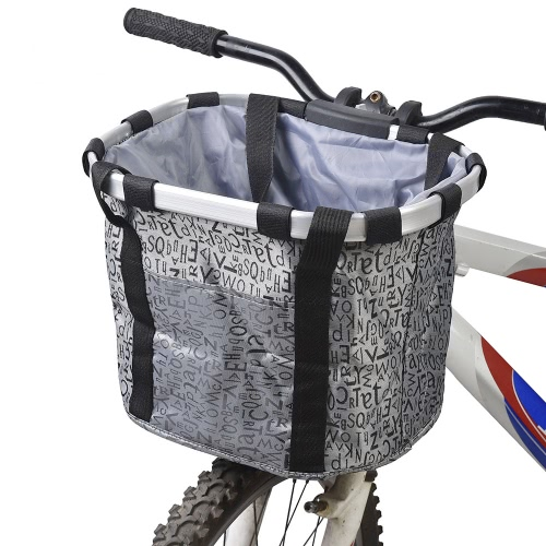 docooler Bicycle Bike Detachable Cycle Front Canvas Basket Carrier Bag Pet Carrier Aluminum Alloy Frame Pet Carrier