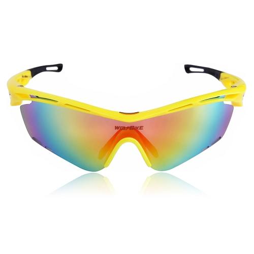 Lenti Wolfbike unisex polarizzato vetri di riciclaggio di sport esterni della bicicletta Occhiali intercambiabili