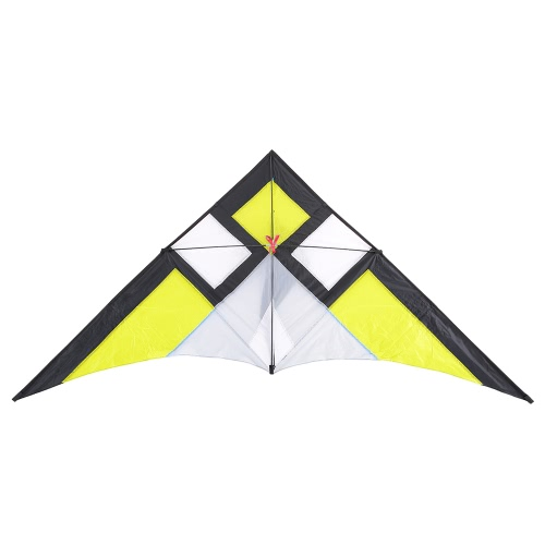 290*135cm Wide Single Line Stunt Kite Children Adults Delta-shape Triangle Fly Kite Flyer for Beach Vacation Family Fun