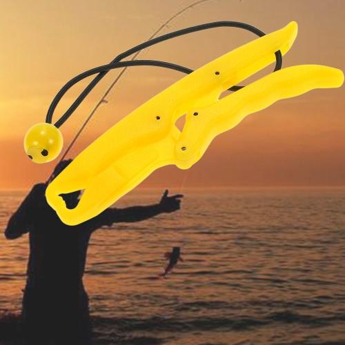 Docooler Plastic nottilucenti pesci di plastica Grip galleggiante Pesce pinza pesce Lip Grip Grabber Pesce Keeper controller Lipper con elastico Cavo salvavita