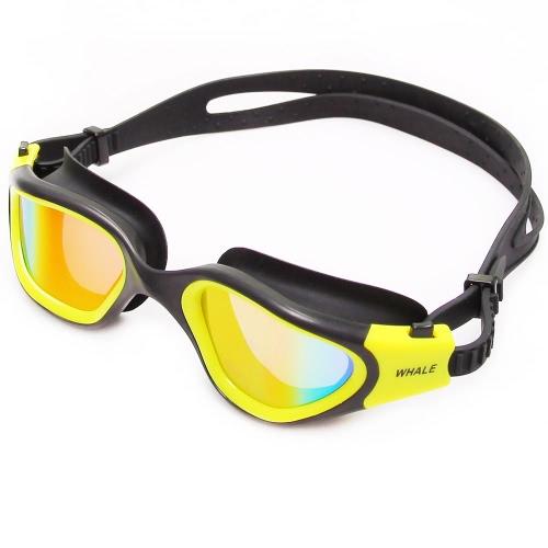 Polarizzato anti-fog protezione UV delle donne degli uomini adulti specchio Coating Swimwear di nuoto occhiali sportivi occhialini da nuoto Eyewear Occhiali con Storage Case