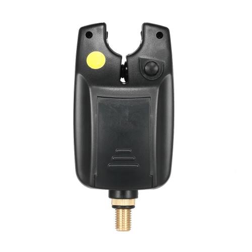 Lixada 6 LEDs Allarme Pesca Allarme resistente Tono regolabile Sensibilità del volume Allarme acustico Allarme morso pesce per pesca carpa
