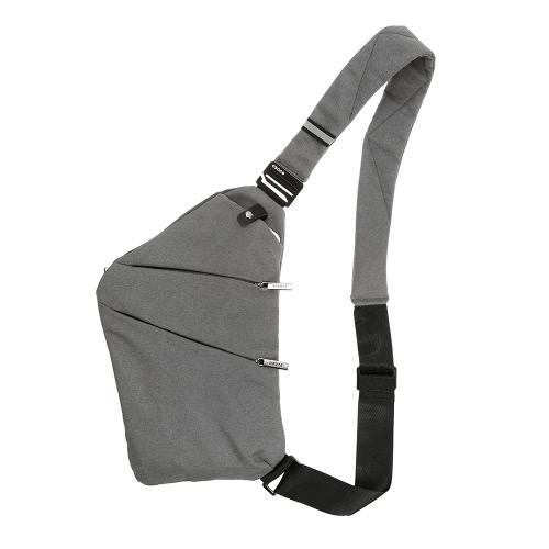 Borsa a tracolla dello zaino dello slittamento leggero Sport esterno di sport Escursione Escursionismo Antifurto Crossbody Sacchetto di spalla Sacchetto Daypack per gli uomini Donne