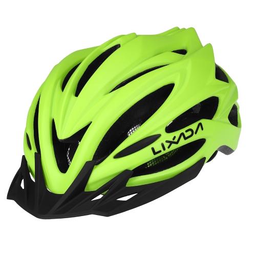 Lixada 22 Vents Ultralight Casco da ciclismo in EPS completamente modellato in EPS con fodera interna Casco regolabile da bicicletta in Mountain Bike per bicicletta