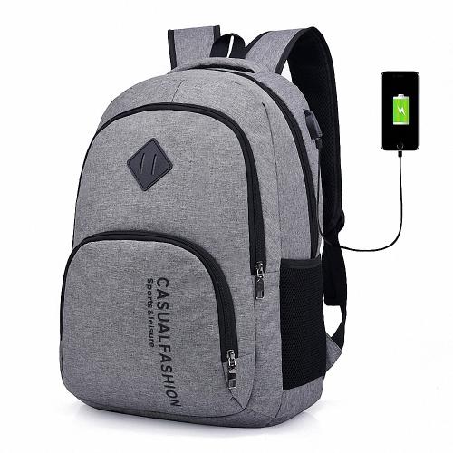 Lixada Men's Laptop Backpack with USB Charging Port
