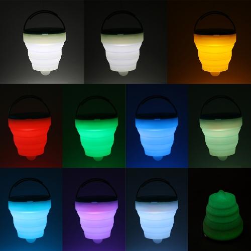 Farbwechsel Licht Stimmung Lampe Wiederaufladbare Camping Lampe Portable Wandern Laterne LED Camping Licht Faltbare Zelt Laterne Outdoor Camping Wandern Reparaturen Licht