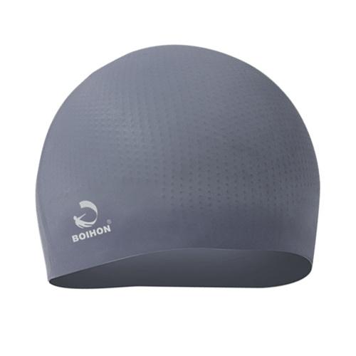 Силиконовая плавательная крышка Solid Ultra Stretch с антискользящим внутренним зерном Частицы для плавания Cap Hat Водонепроницаемый уход за волосами Защита ушей